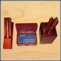 高档办公文具套装木笔笔筒名片盒
