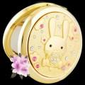 新款水晶化妆镜子美女兔款