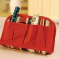 休闲红色化妆包