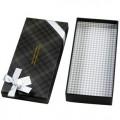 礼品盒 长方形灰色格子纸盒