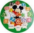 益智玩具 木质卡通时钟拼图
