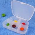 锁扣半透明五格便携药盒