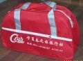红色广告旅行包