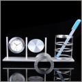 新款铝制钟表笔筒组合摆件