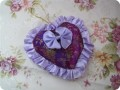 心形绸缎纯天然植物香包