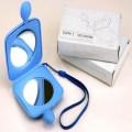 带绳蓝色便携化妆镜