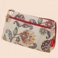 韩版甜美可爱手包 孔雀印花棉布手拿包化妆包定做