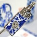 青花瓷书签定做 中国特色工艺品