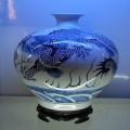 青花龙花瓶的定做 瓷红轩定制