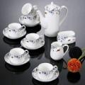 春燕戏梅骨瓷咖啡组合套装定做