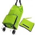 便携式可折叠拖轮包 购物旅行包