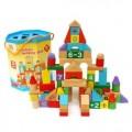 益智玩具积木木质桶装玩具定制