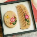 桃木梳子镜子套装定制