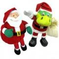 圣诞龙公仔,圣诞老人公仔二件组合定制