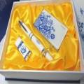 青花瓷笔U盘名片夹三件套装定制 商务礼品广告促销礼品印LOGO