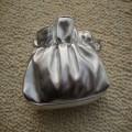 银色PU化妆包,手提包定制