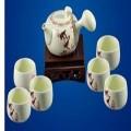 古玉养生瓷茶壶套装定制