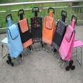 普通架带凳三轮购物车定制,购物车定做