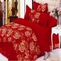 富贵红都市丽人贡品苏绣床上用品四件套定制