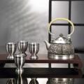 和谐发展纯锡茶具六件套礼物