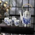 青花瓷荣华富贵茶具六件套