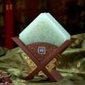 福禄寿玉石杯垫,白玉杯垫套装定制