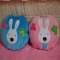 时尚流氓兔抱枕被定制 可爱兔兔抱枕定做
