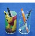 小熊亚克力杯状笔筒定制,广州亚克力笔筒定做