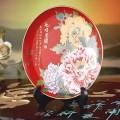 花好月圆红瓷圆盘定制 中国红瓷圆盘定做