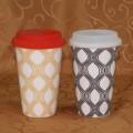 硅胶盖子陶瓷环保杯/马克杯