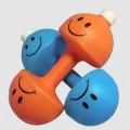 哑铃塑料运动水壶 广告印LOGO户外水壶