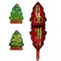 圣诞树修眉指甲美容工具套装