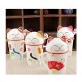 新品招财猫创意陶瓷杯