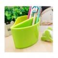绿芽可爱塑料笔筒/广告铅笔筒