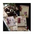 梅兰竹菊丝绸邮票珍藏册