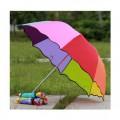 阿波罗彩虹雨伞定做印刷LOGO