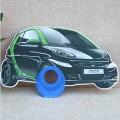 汽车形状广告扇,异形广告扇定制