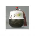 禅韵玉瓷琉璃茶叶罐