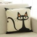 卡通猫印花抱枕