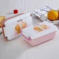 时尚多彩饭盒(带勺子)