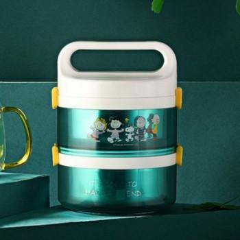史努比双层手提餐桶卡通便携饭盒