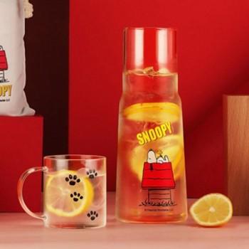 史努比耐热玻璃杯壶套组
