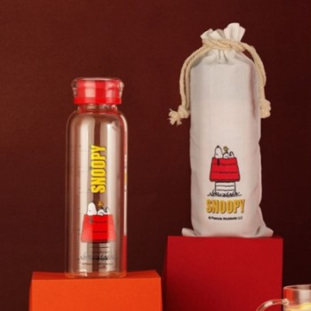 史努比耐热玻璃杯袋组